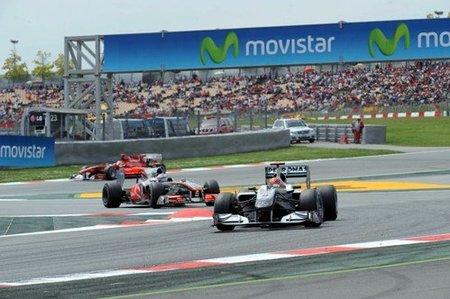 Michael Schumacher en el GP de España 2010