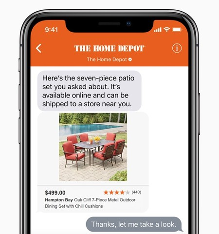 La mensajería empresarial de iMessage ya está disponible en más países