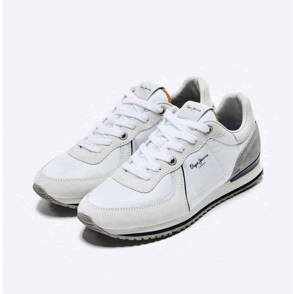 Zapatillas deportivas de hombre Pepe Jeans con piel serraje y cierre de cordones