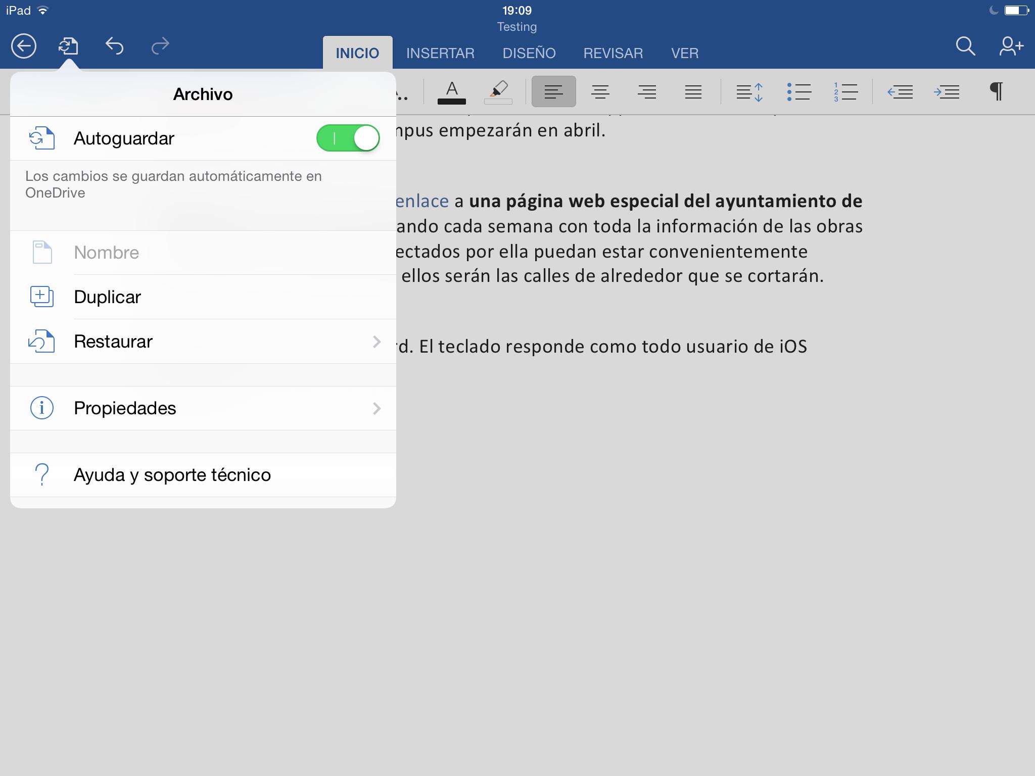 Foto de Microsoft Word para iPad (7/8)