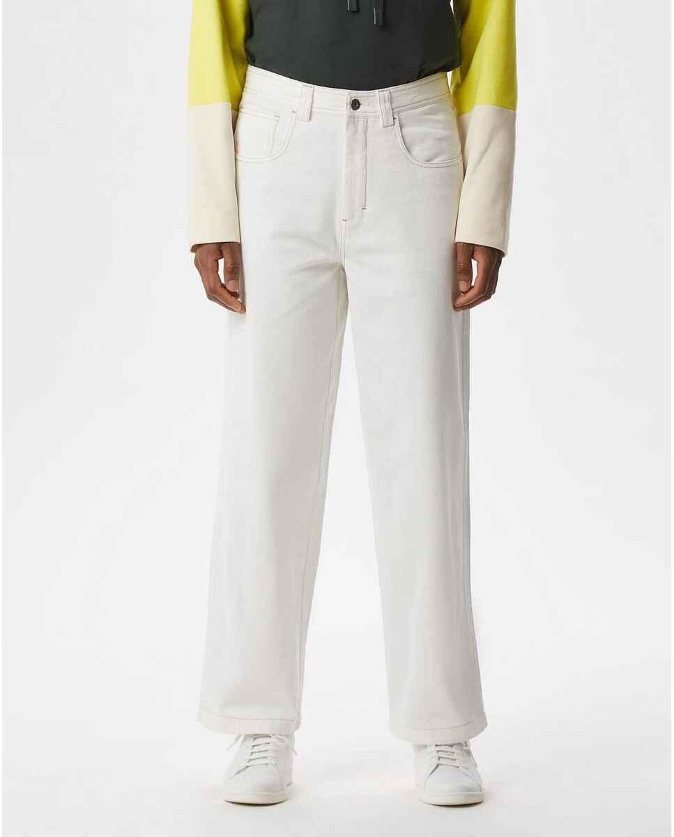 Pantalón chino de hombre regular en blanco de Adolfo Domínguez