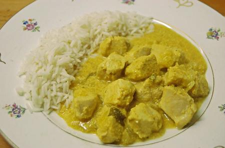 Receta de pollo con salsa de yogur sin lactosa al curry