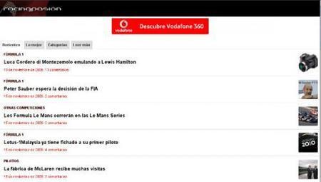 Racingpasión estrena web en formato móvil