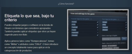 Llegan las Etiquetas de Steam, un nuevo sistema de categorización de juegos y software