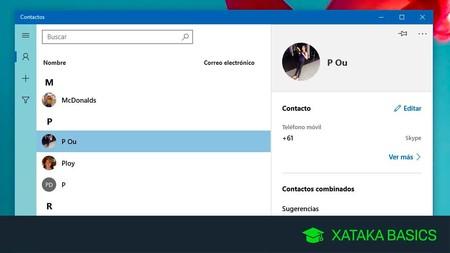 Cómo ver tus contactos de Google en la aplicación de Contactos de Windows 10