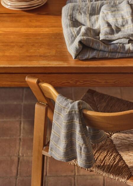 Pack de 2 servilletas lino rayas