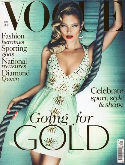 ¡Kate Moss vuelve a ser la protagonista! Esta vez para Vogue UK