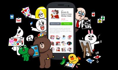 Line ya permite a cualquiera vender sus propios stickers