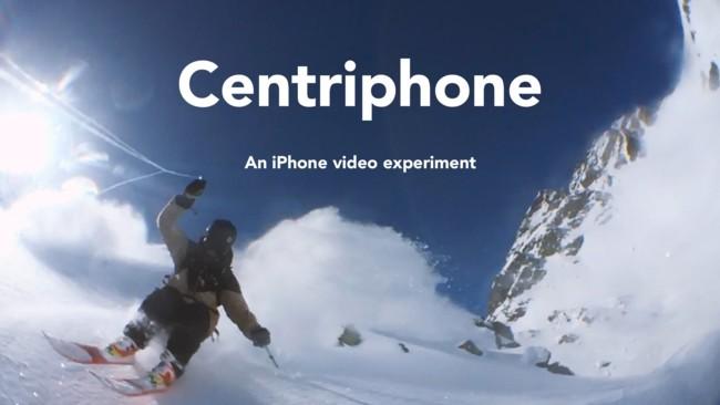 """Imagen de la semana: el """"Centriphone"""" que graba a un esquiador mientras da vueltas en el aire"""