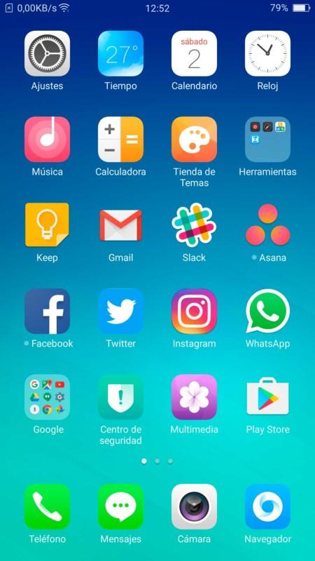 Interface Oppo F1 Plus