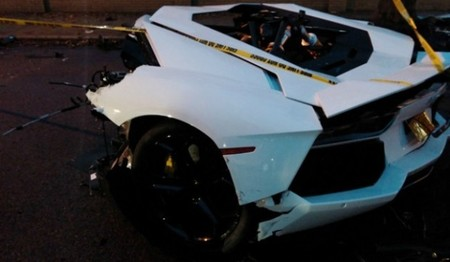 Accidente Aventador