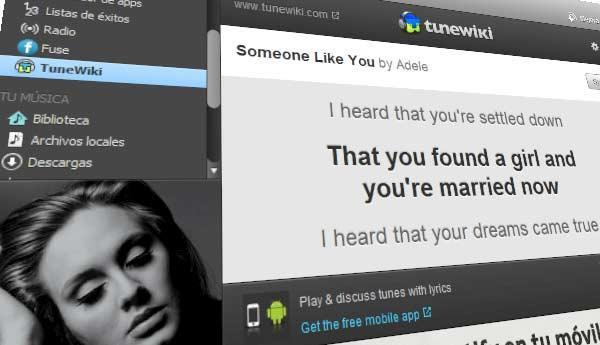 TuneWiki en Spotify.