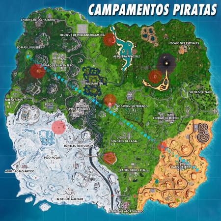 Fortnite Campamentos Piratas