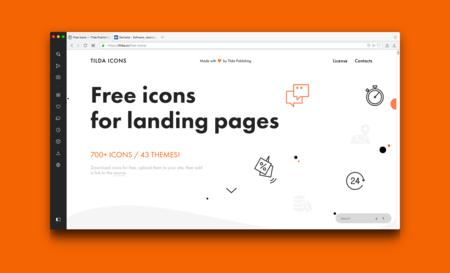 Tilda Icons, descarga más de 700 iconos vectoriales gratis para uso personal y comercial