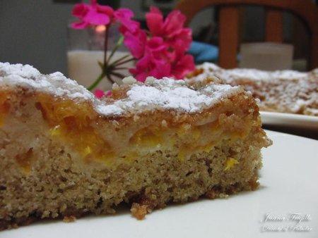 Receta de cake de albaricoques. Postre