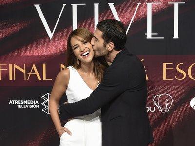 Paula Echevarría y Miguel Ángel Silvestre se despiden así de guapos de Velvet