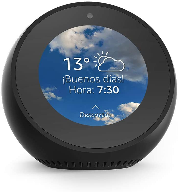 Amazon Echo Spot - Reloj despertador inteligente con Alexa