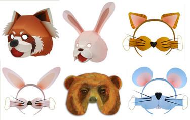 Carnaval: máscaras de animales para imprimir
