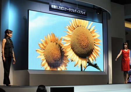Mitsubishi muestra una pantalla OLED de 155 pulgadas