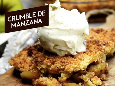 Crumble de manzana. Receta en video