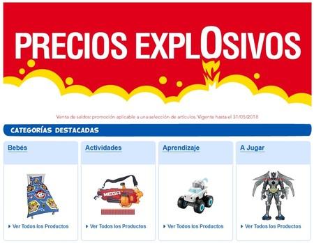 Precios explosivos en Toys `r us en cientos de artículos a precio de saldo