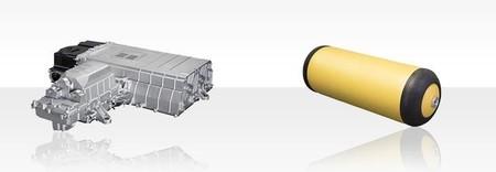 Pila de Combustible y Tanque de hidrógeno a alta presión