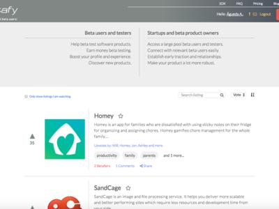Betafy o cómo conseguir voluntarios que prueben tu software antes de lanzarlo