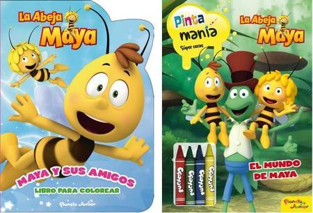 Libros abeja Maya colorear