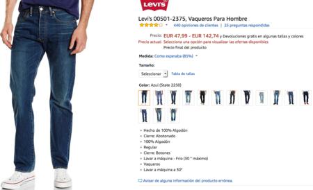 baratas para descuento 41115 8a16b Dónde comprar más baratos y al mejor precio unos Levi's 501