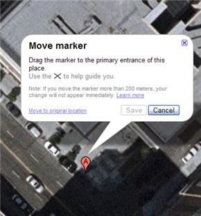 Google Maps permite editar las direcciones