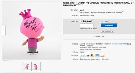 Window Y Funko Vinyl 10 2014 Hq Giveaway Frankenberry Freddy Signed By Brian Mariotti Ebay