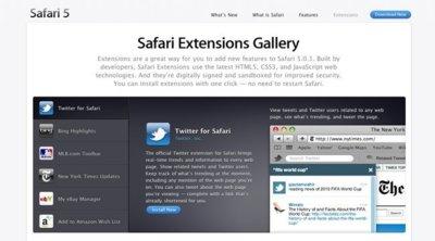 Safari 5.0.1 ya disponible, con sus extensiones y su Galería