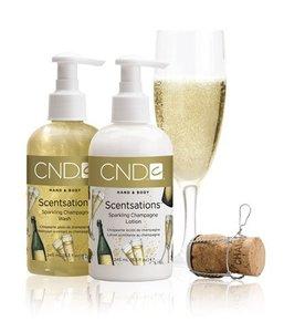 Gel de baño y leche corporal perfumados al Champagne, un regalo original para Navidad