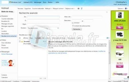 Busqueda avanzada en Hotmail