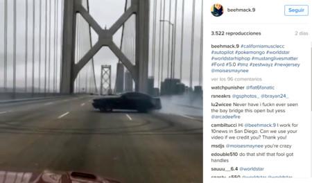 ¿Es buena idea hacer 'donuts' en el Bay Bridge de San Francisco? Este lumbreras acabó arrestado