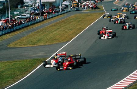 Senna Prost Suzuka F1 1990