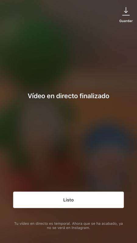 Instagram Live Finalizado