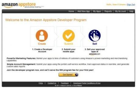 Screen de los pasos de los programadores de Android en Amazon