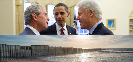 Si quieres culpar a alguien por el muro fronterizo con México, empieza por Clinton y Bush