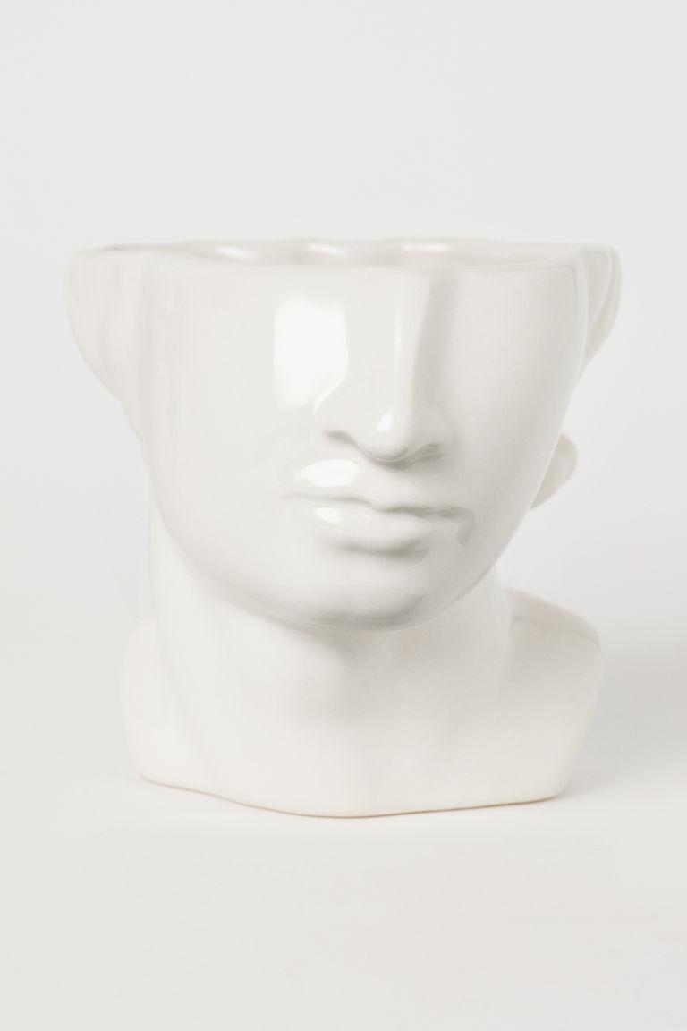 Jarrón o maceta de cerámica