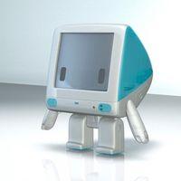 Un diseñador de juguetes le da vida al iMac G3 y lo convierte en un pequeño robot