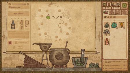 Así era Potion Craft hace dos años, mucho antes de convertirse en uno de los juegos más celebrados del festival de demos de Steam