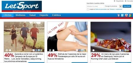 LetSport, la web de descuentos en wellness, salud, belleza, deporte y ocio