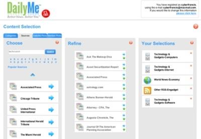 DailyMe, nuestro periódico personalizado
