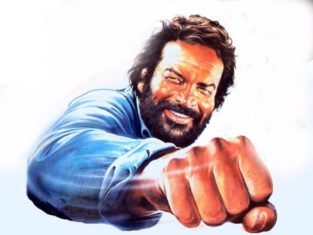 Bud Spencer daba las hostias transmitiendo