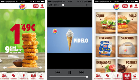 App de Burger King para iOS