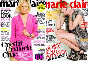 Renée Zellweger portada doble de Marie Claire