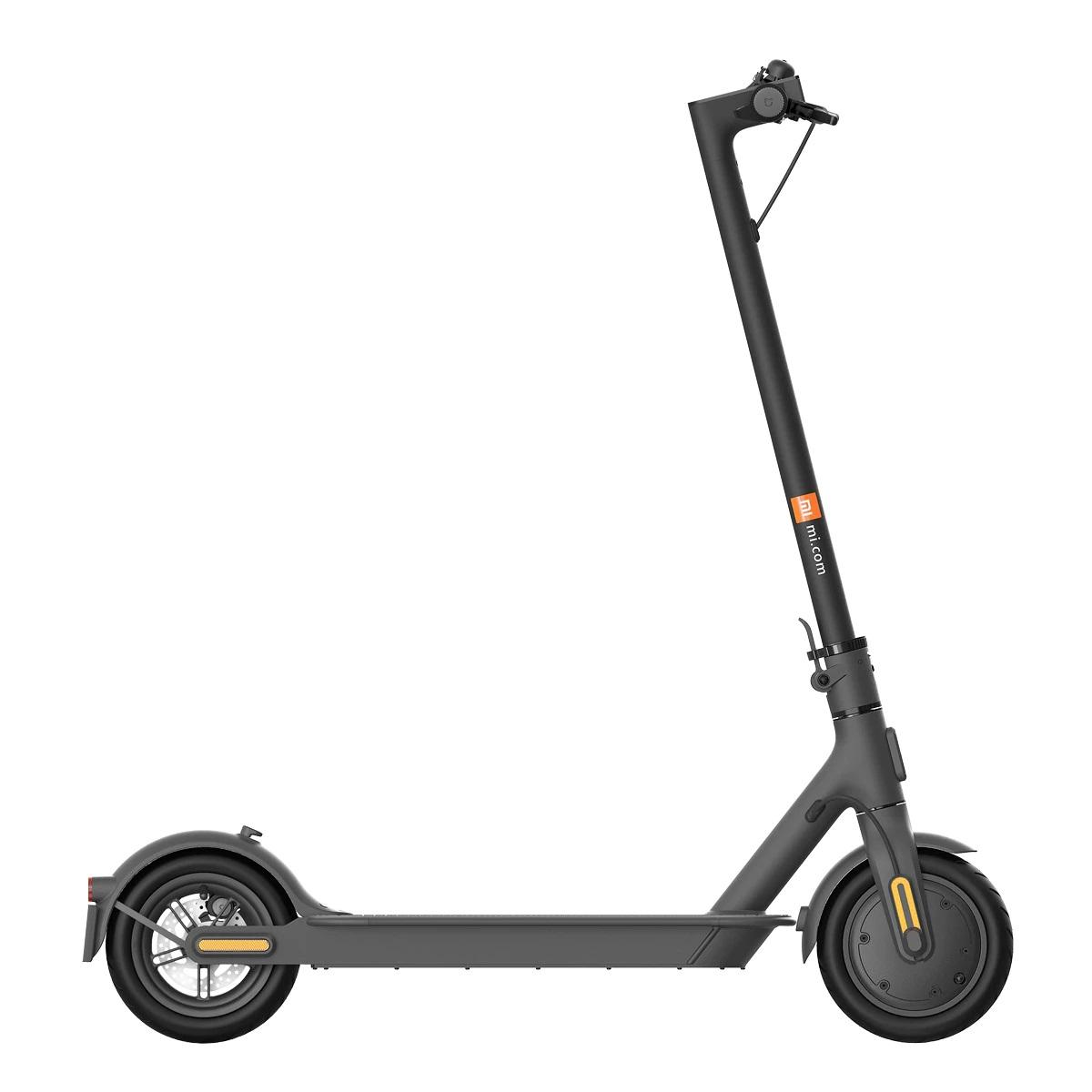 Patinete eléctrico Xiaomi Mi Scooter 1S negro, Distancia de conducción de hasta 30 km, Sistema de doble frenado equipado con freno regenerativo, Plegado fácil y rápido en tan solo 3 segundos
