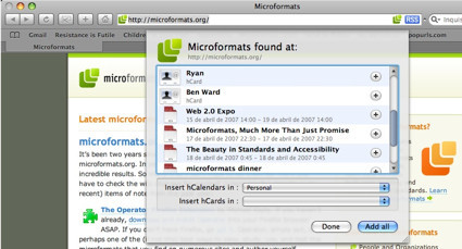 Microformats Safari