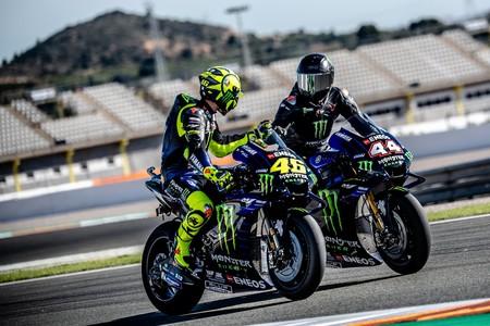 Rossi Hamilton Cheste Motogp 2019